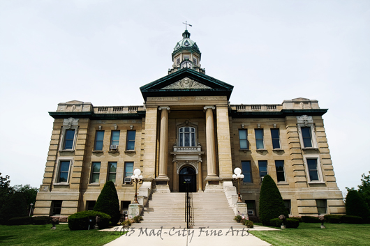 The Lafayette county courthouse in Darlington, Wi.